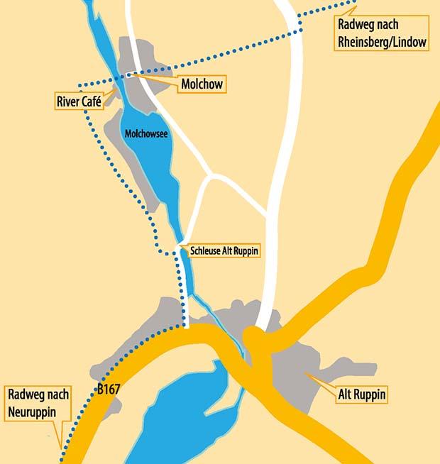 Anfahrt River Café